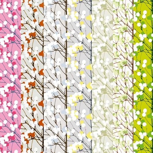 The countless color combinations of Marimekkko's Lumimarja fabric