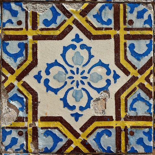 Mosaic Logo Template: Antique Tiles, Portuguese Tiles, Tile Art