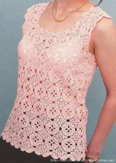 Modelos de tejido: Tema de calados cuadrados rosados