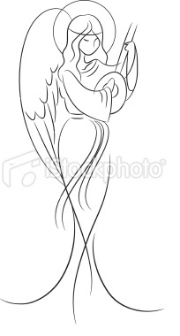 Bautiful Angel Royalty Free Stock Vector Art Illustration