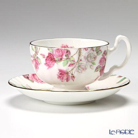 Einzurei Elizabeth Rose pink tea cup and saucer (Oban)