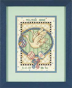 Набор для вышивки крестом Dimensions 16718 Детская метрика Подарок маме