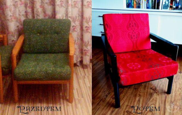 odnowienie mebli fotel prl