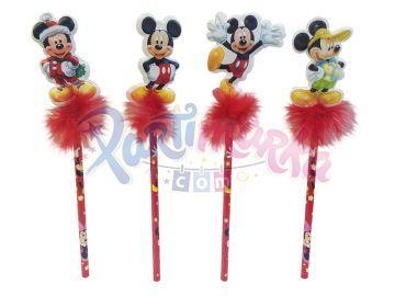 Mickey Mouse Doğum Günü Kurşun Kalemler 3 Adet