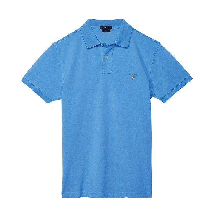 Gant Polo GANT SOLID Blue T-Shirt - 10 #GantPolo