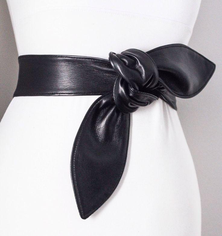 Black wrap belt