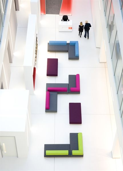Colourful reception furniture / ORDER NOW FROM SPACEIST
