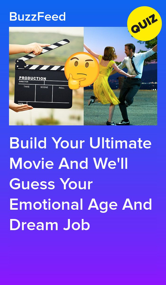 Build Your Ultimate Movie And We'll Guess Your Emotional Age