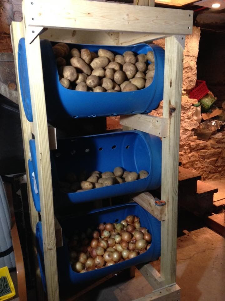 This Is Our Version Of A Veggie Storage Container Unit