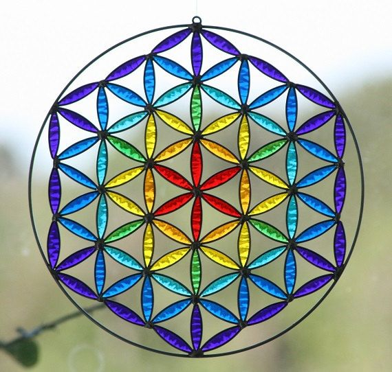 Large Flower of life 30cm sacred geometry yoga by Mownart on Etsy