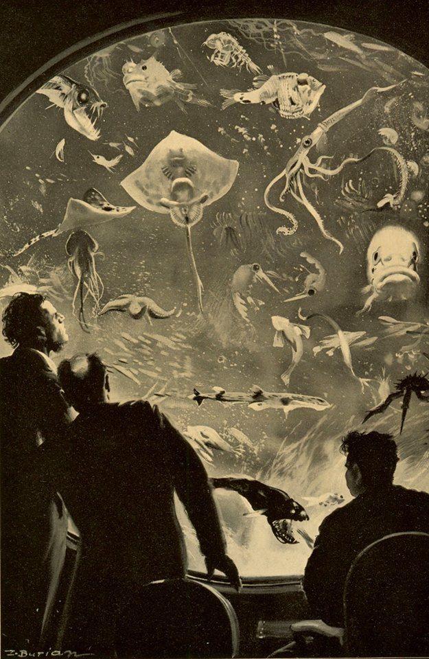 Zdenek Burian, Illustration for Jules Verne's '20,000 Leagues Under the Sea' , 1937