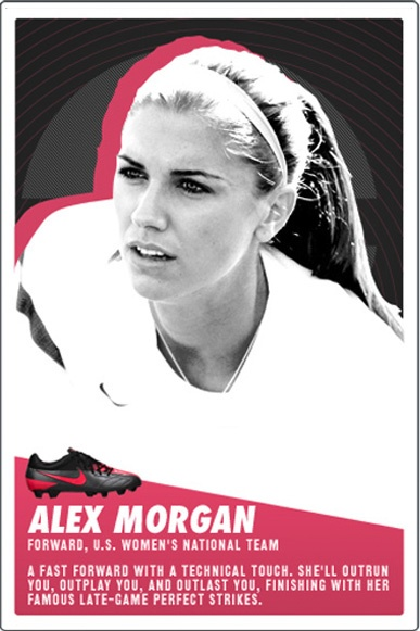 Alex Morgan. (Nike Soccer/Twitter)