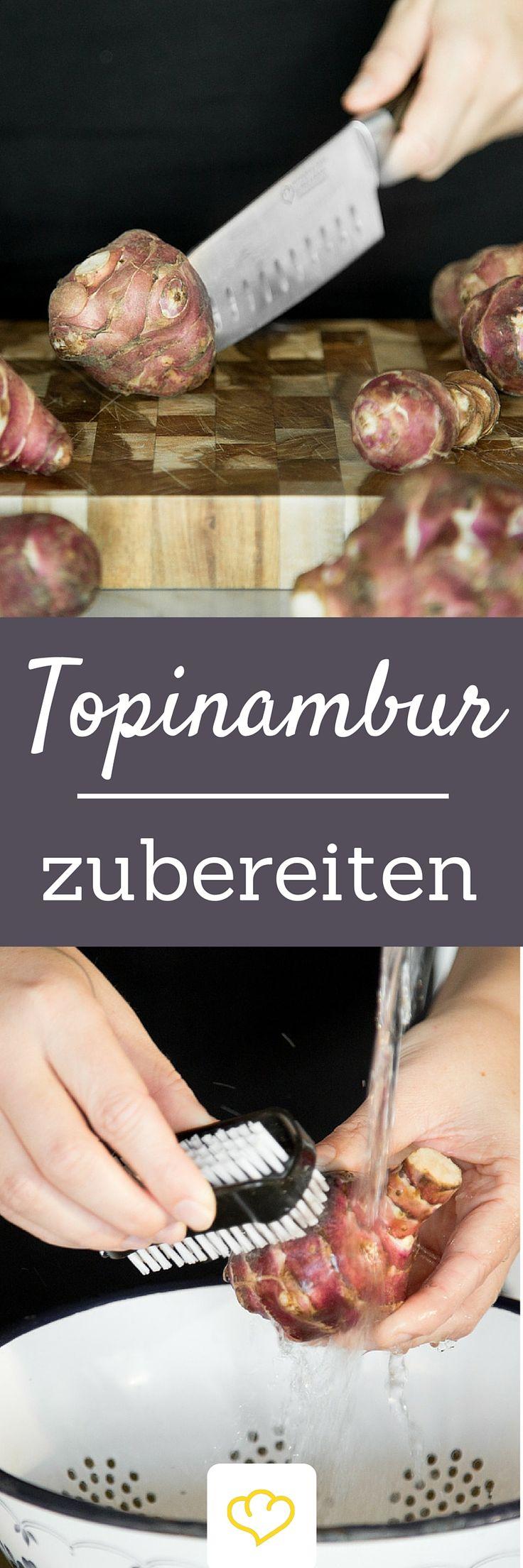 Wie bereitet man eigentlich Topinambur zu? Hier gibt's die besten Tricks und tolle Rezept-Ideen!