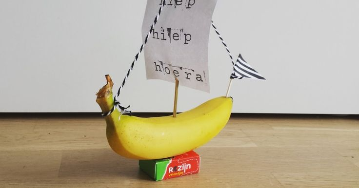 ondeugendespruit traktatie piratenboot gezond meeneemtraktatie banaan piraat