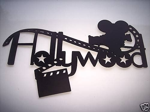 Home Theater Decor Hollywood, Movie Camera and Clapboard Metal Wall Art by  JNJ Metalworks.