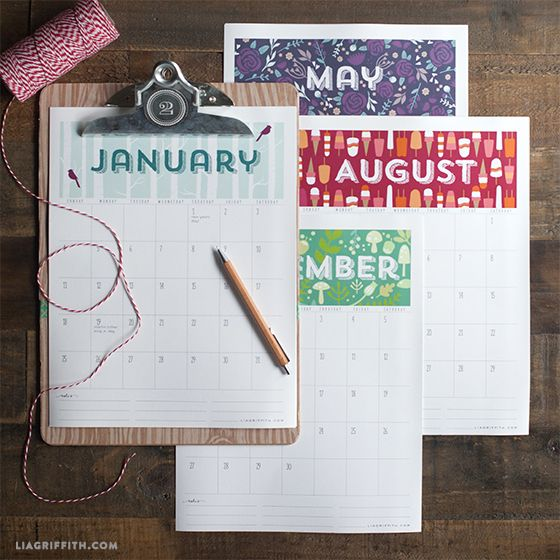 FREE Downloadable Printable 2015 Calendar (It's a pdf that lets you add your own appointments, birthdays, etc.) | liagriffith.com
