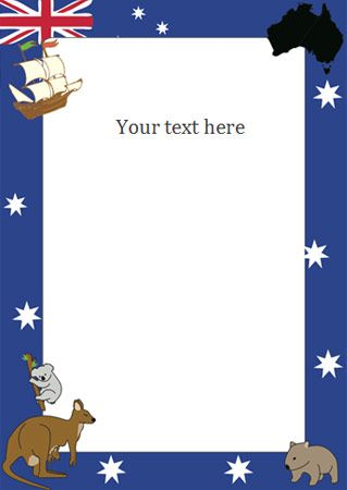 Australia Day Notepaper - good base for an Australia Day party invitation