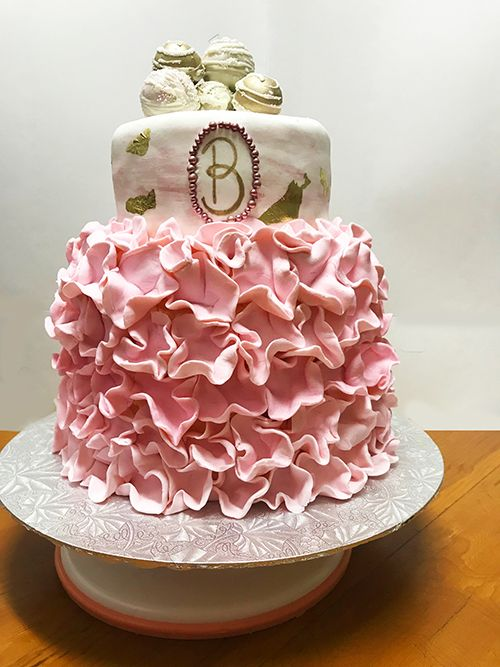 Pink Petal Birthday Cake