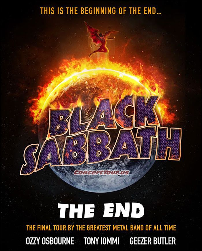 www.ConcertTour.us - BLACK SABBATH Announce Their 2016 Tour Plans, Trek Named 'The End Tour'
