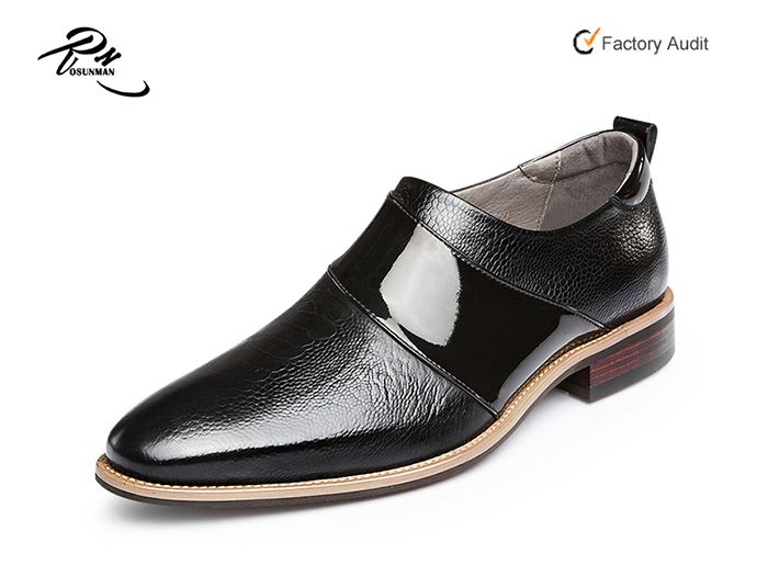 Most popular fashion trend cow leather embossed men loafer shoes, man  footwear shoes without lace