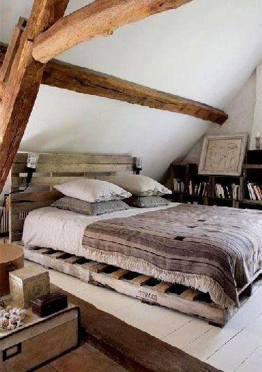 Diy d co pour fabriquer une t te de lit en palette fils - Fabriquer une tete de lit en palette ...