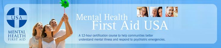 Mental Health First Aid is a public education program that seeks to help the public identify, understand and respond to signs of mental illnesses and substance use disorders.