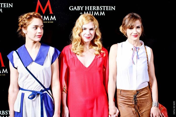 Belén Blanco, Esmeralda Mitre, y Celeste Cid // Presentación Calendario Mumm 2013 + Gaby Herbstein