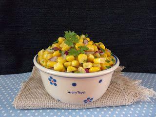 AranyTepsi: Lila hagymás kukoricasaláta