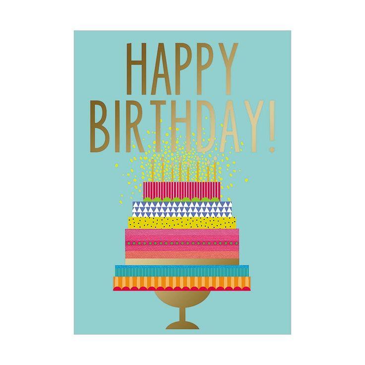 Happy Birthday On Large Cake Birthday Card | Design Design, Inc.