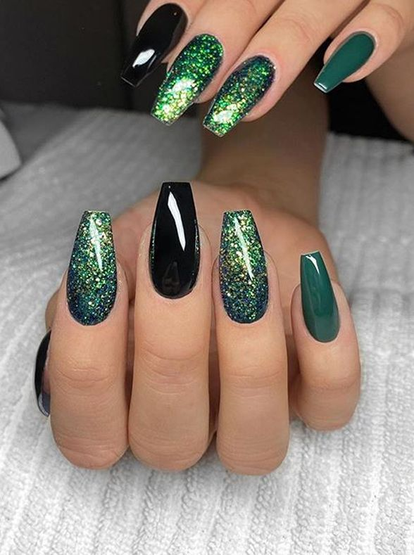 Amazing Green Nail Art Designs And Images For Women 2020 Nail Art Designs Green Nails Green Nail Art
