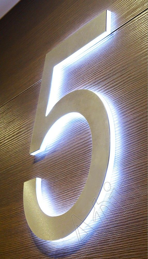 STRIPE - Range of metal or Plexiglass signs with cut out lettering. Led technology
