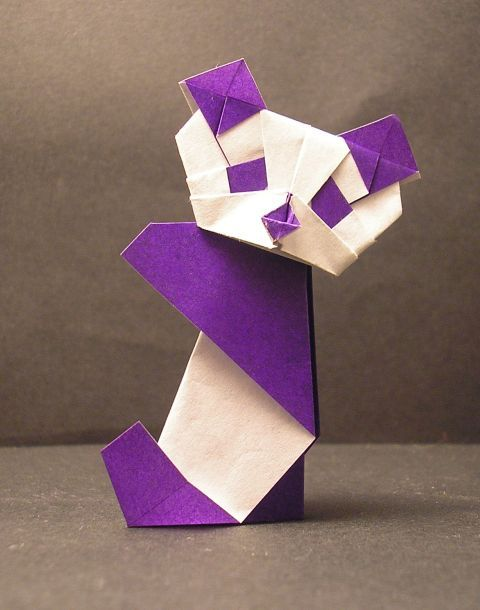 Make #panda origami with your kids.