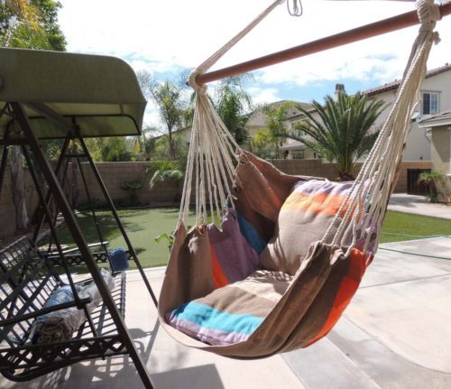 Busen Hammock Hanging Rope Chair Sky Air Hammock Swing Chair Porch Chair with
