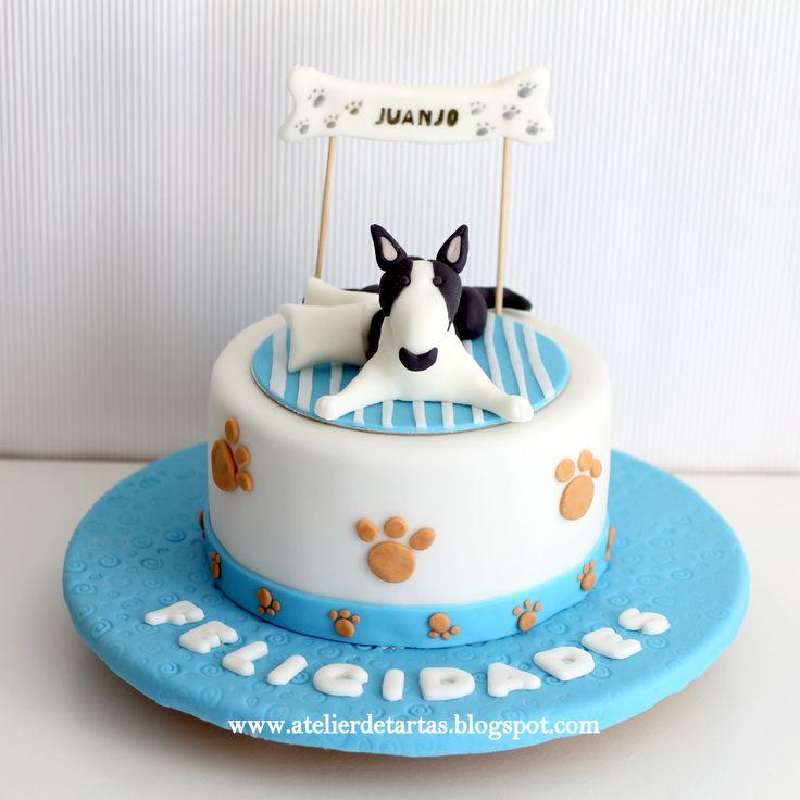 Tarta Fondant Cumpleaños Mascota Perro