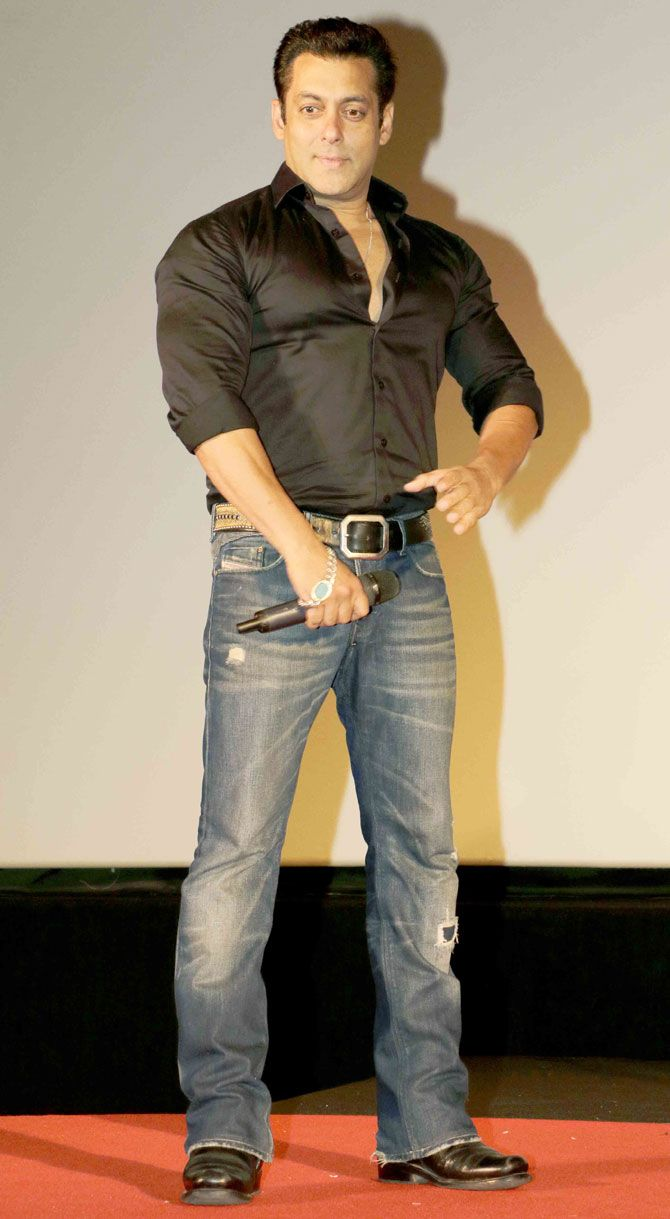 Salman Khan at the trailer launch of 'Hero'.