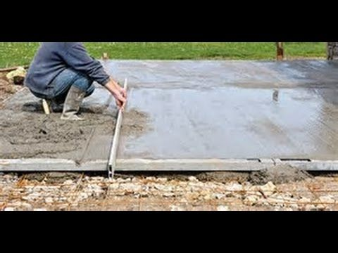 Bricolage : Comment couler une dalle béton tutoriel technique astuce matériel - YouTube