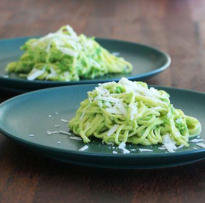Ärtpesto och pasta - snabblagat