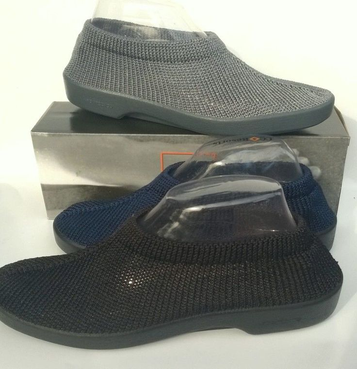 Arcopedico Shoes knitted top flat - New Sec - made in Portugal - 4 colours !