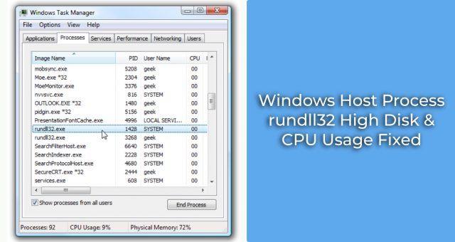Rundll32 High Disk Cpu Usage Fixed Technology Problems