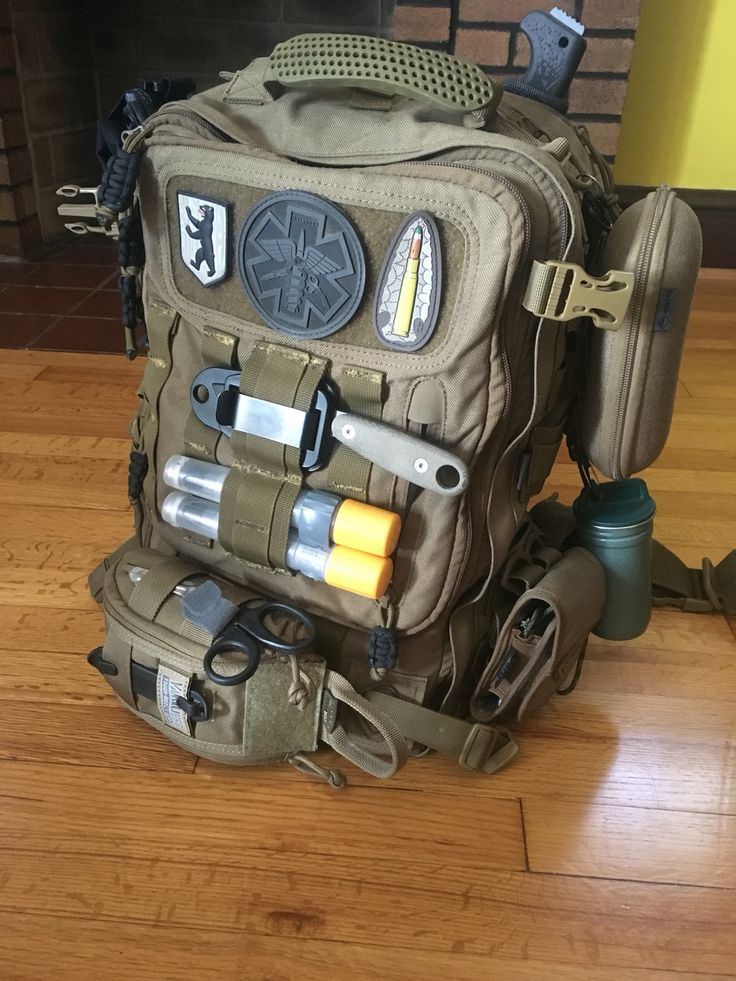 My EDC Hazard 4 sling pack along with a Vanquest Fat Pack.