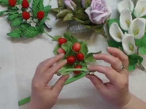 Видео Мк Универсальное крепление различных украшений Фоамиран
