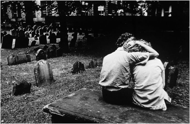 This image by Constantine Manos is so sad. I think that he captured a very nice image of how people are there for you when you need someone. To be that close to the subject also is very nice.