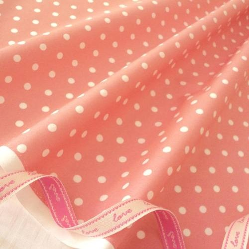 FQ - DUSTY PINK - MOD POLKA DOT 100% COTTON FABRIC PATCHWORK QUILTING BUNTING | eBay