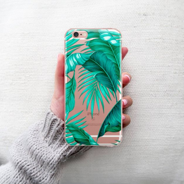 crystal clear case, iPhone,Tropical palm tree case