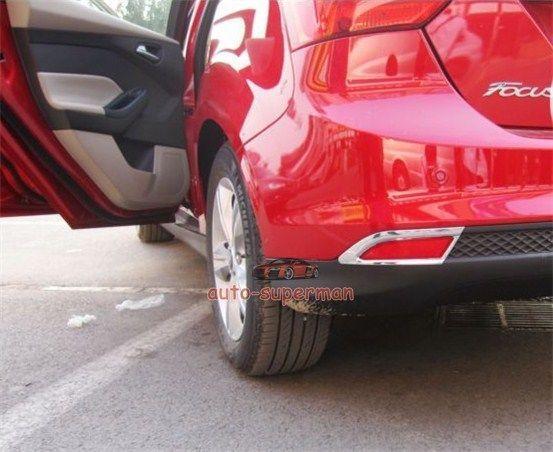 Хром задних противотуманных фар крышка лампы планки для форд фокус 4dr хэтчбек 2012 2013
