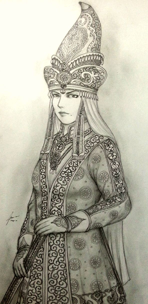 Khanum Sevindik Begotoglu in Court Dress by Gambargin.deviantart.com on @deviantART