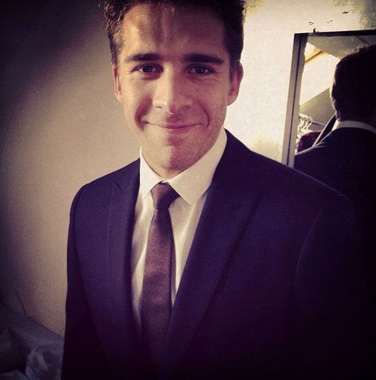 Your First Look at the Melbourne Cup: Go Behind The Scenes Thanks To Social Media: Hugh Sheridan looked sharp thanks to Burberry. Source: Instagram user: @trevorstones