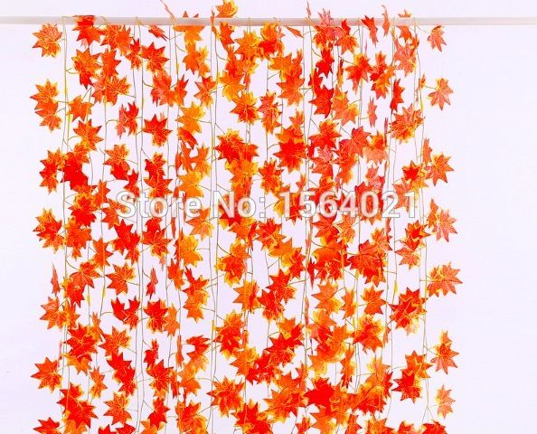 Find More Decorative Flowers & Wreaths Information about 7.8ft Artificial ivy Red Vine Leaf Garland Plants Fake Foliage Flowers Decoration Red maple leaves garland 30leaves/string,High Quality string contact,China string lanyard Suppliers, Cheap string sound from YUGUO INDUSTRY AND TRADE LIMITED on Aliexpress.com