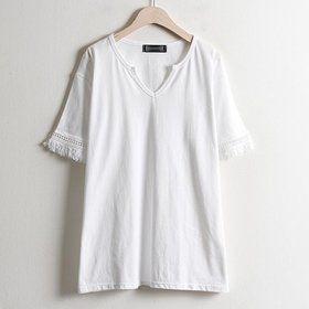 Gmarket - 앤틱수술티(LY_1607) 빅사이즈 큰옷 박스티셔츠 여성박스...