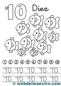 Fichas de números-10